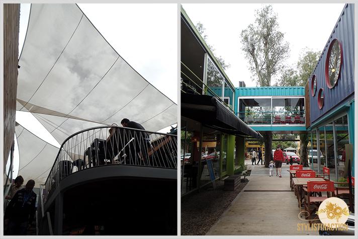 Maschwitz by stylistinaction  - quo container center - terrazas con velas - pasillos centro comercial a cielo abierto
