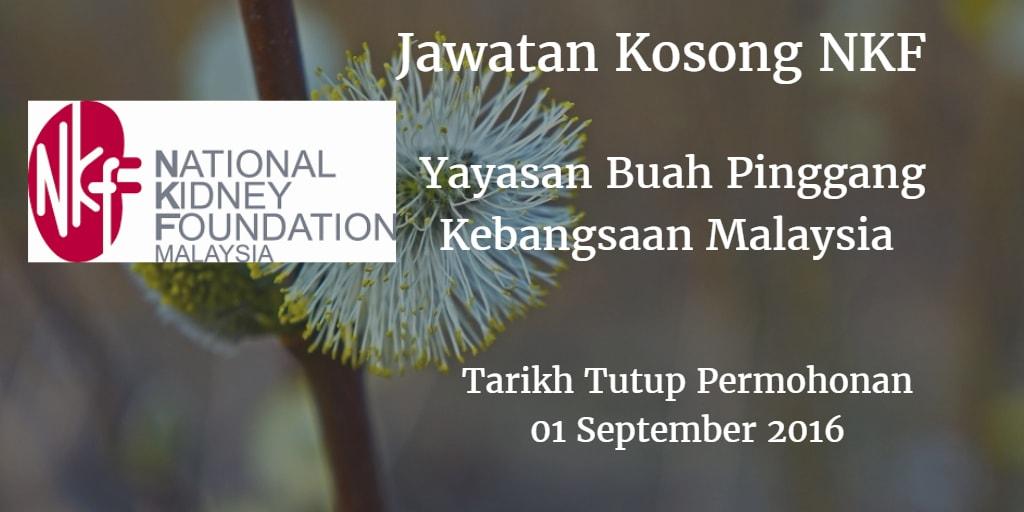 Jawatan Kosong NKF 01 September 2016