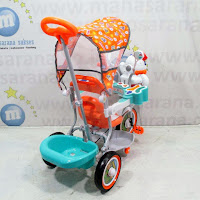 family octopus baby tricycle orange green
