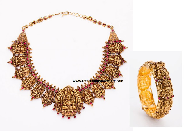 Lakshmi Necklace and Kada