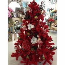 árbol navideño rojo