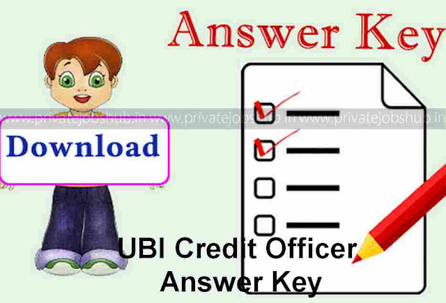 UBI Credit Officer Answer Key