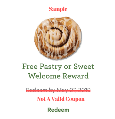 Free Welcome Pastry