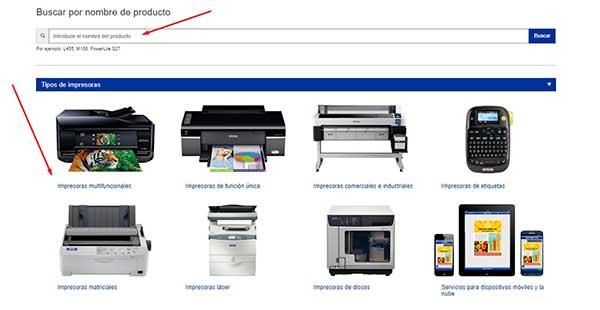 Drivers de impresoras para Epson