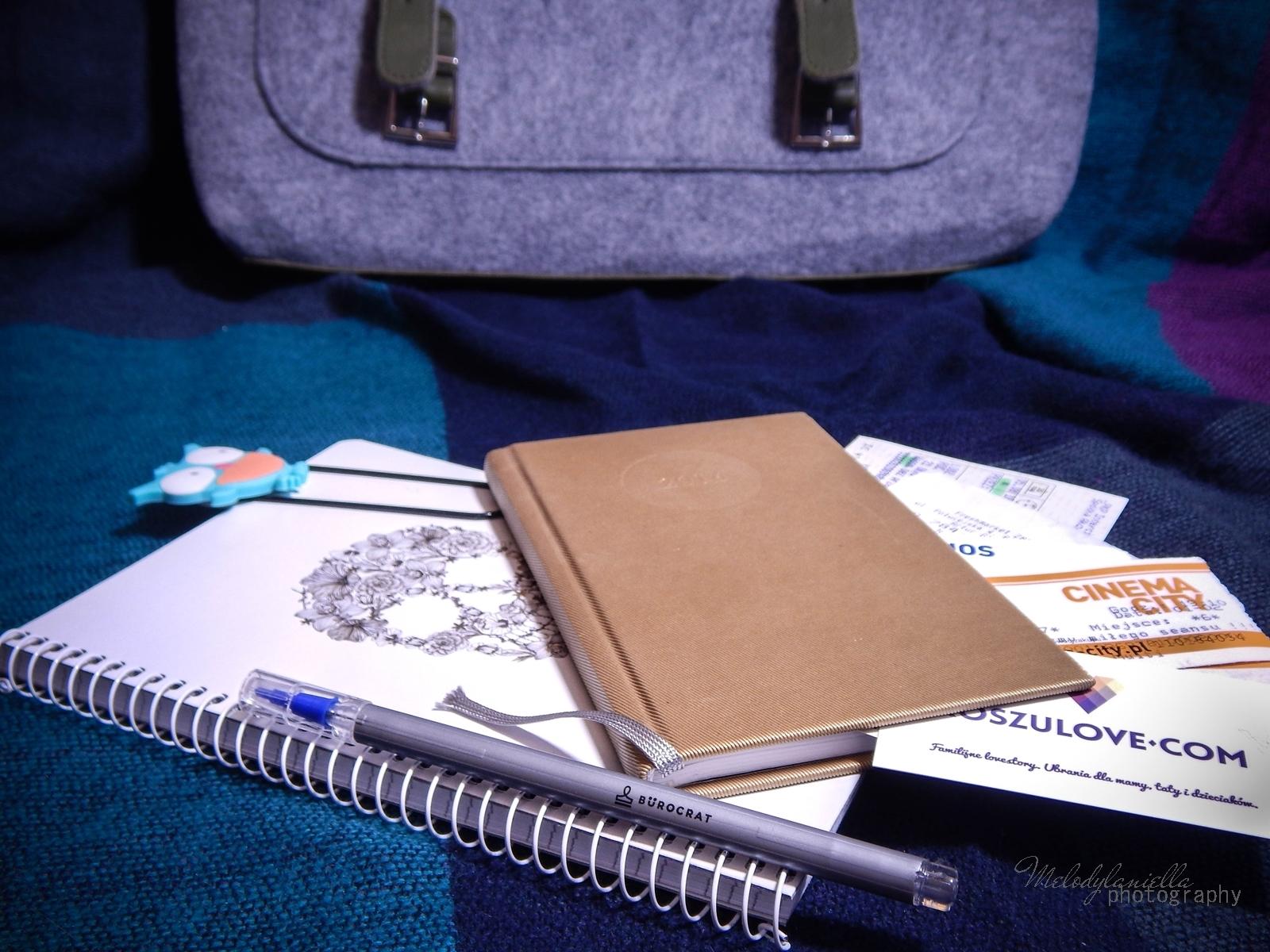 co skrywa moja torebka kalendarz jesien notatnik filcowa listonoszka manzana melodylaniella
