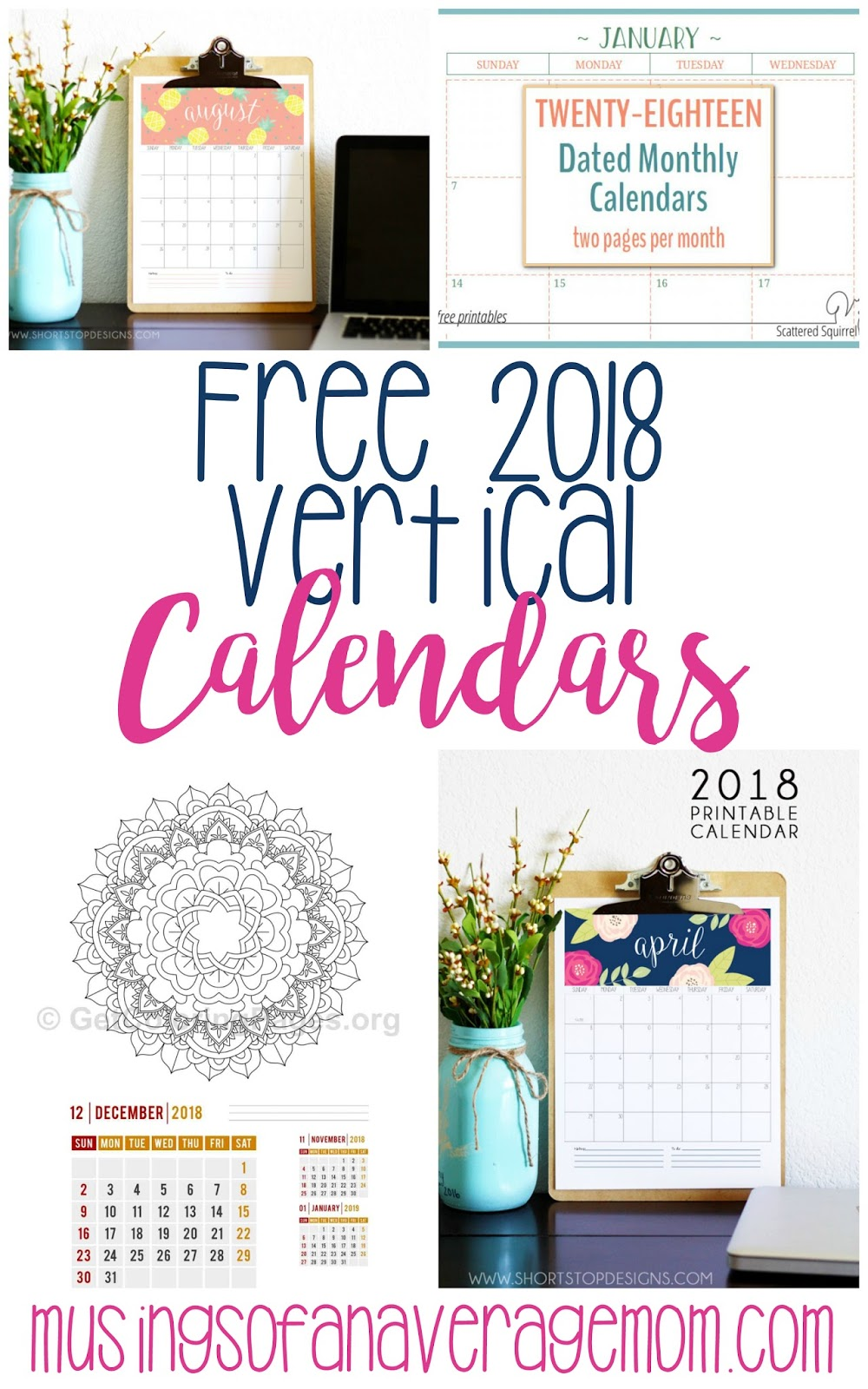 Vertical Calendar Design : Musings of an average mom vertical calendars