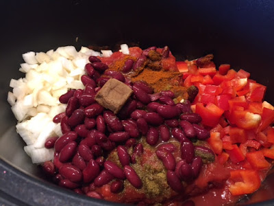 Slow Cooker Chilli ingredients