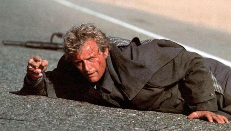 Rutger Hauer als John Ryder in HITCHER, DER HIGHWAY KILLER (1986). Quelle: Verleih