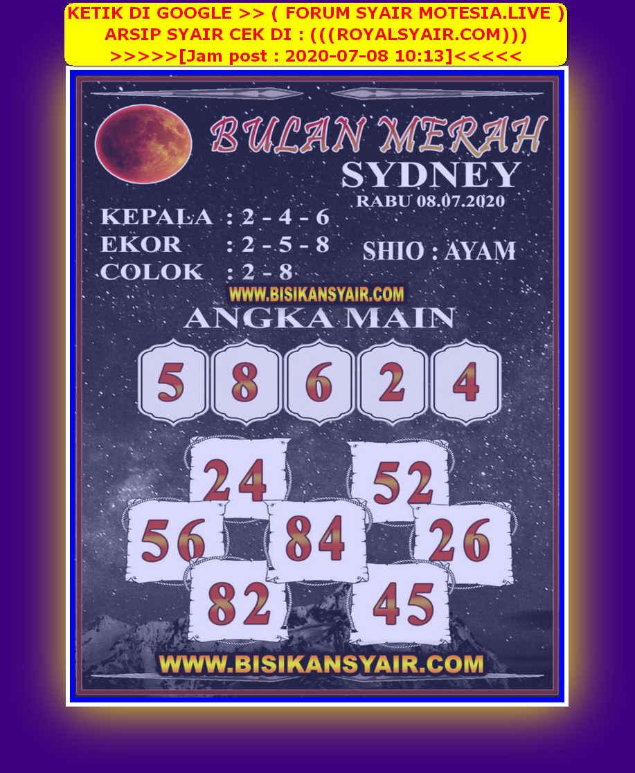 Kode syair Sydney Rabu 8 Juli 2020 66