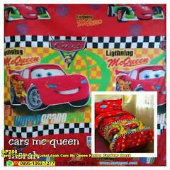 Sprei Custom Katun Lokal Anak Cars Mc Queen Kartun Karakter Merah