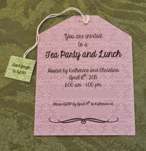 mother's day tea party invite
