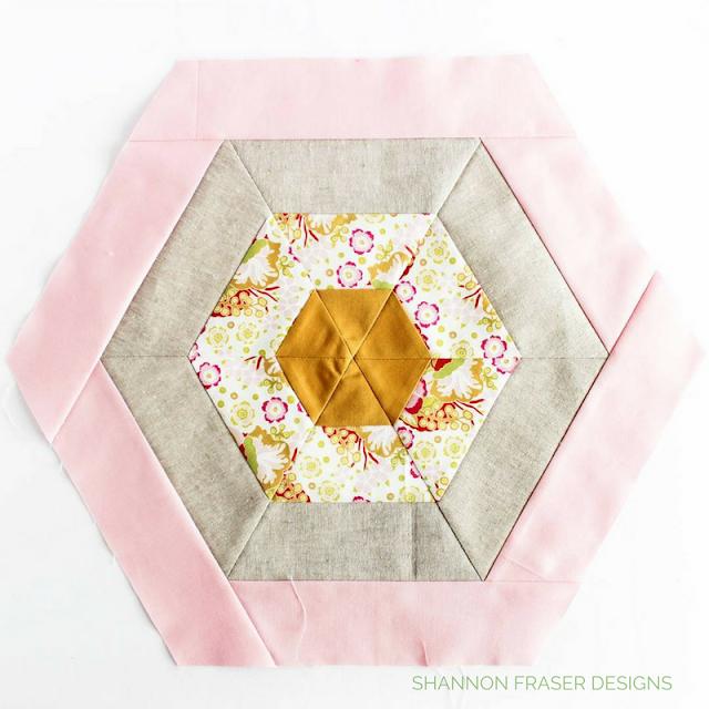 Hexie | Shannon Fraser Designs | Anna Maria Horner Floral | Kona Cotton | Essex Linen | Modern Quilting