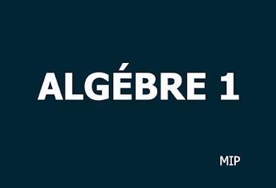 algébre 1 mip7