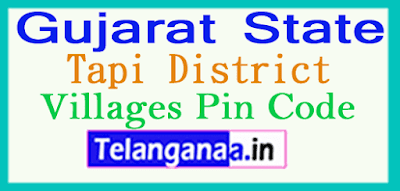 Tapi Pin Codes in Gujarat State
