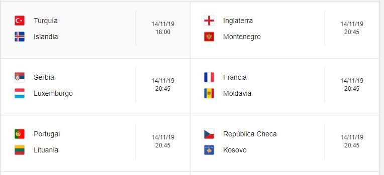 17 Calendario eliminatorias Eurocopa 2020 - 14 de noviembre 2019. Partidos de clasificación Eurocopa 2020. Juegos de las eliminatorias Eurocopa 2020. Partidos, fechas, hora, transmisiones eliminatorias Eurocopa 2020. Donde ver la Eurocopa 2020