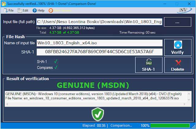 Windows and Office Genuine ISO Verifier latest
