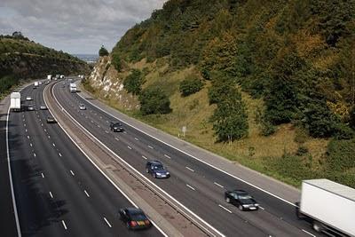 scenic motorway image, dual carriageway