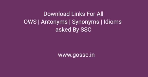 Synonyms Antonyms [gossc.in]