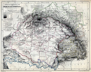 map of Hungary pre- 1919