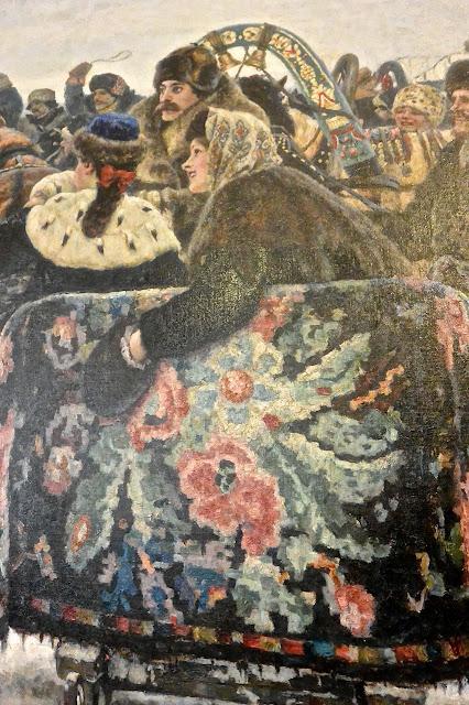 Saint Pétersbourg Musée russe Sourikov : La prise de la forteresse de neige