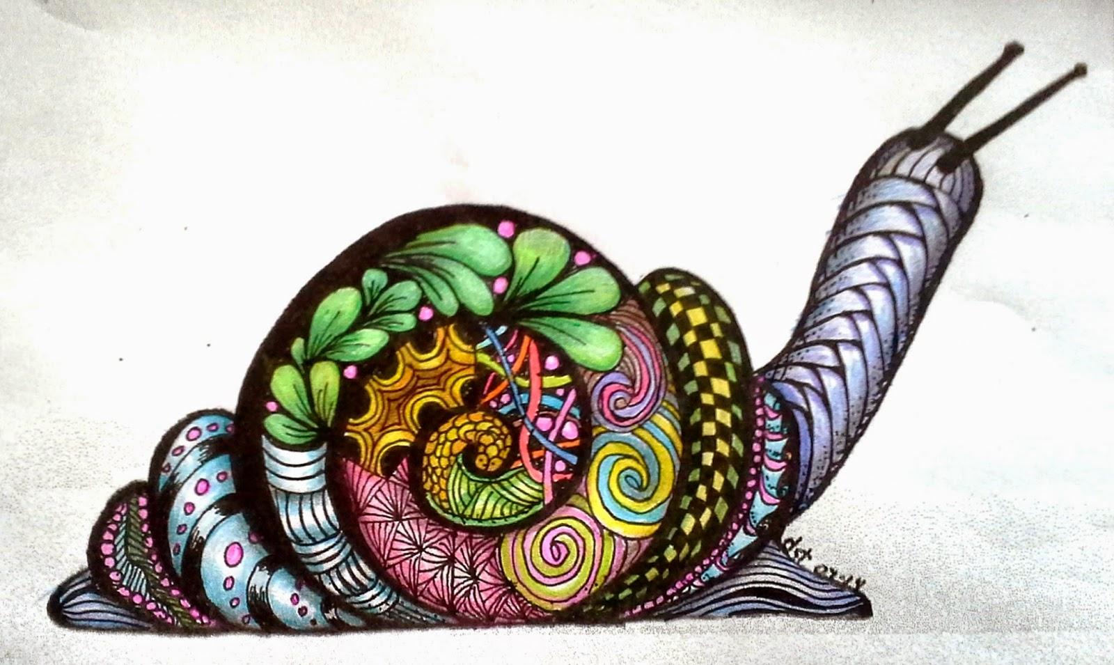 Disegni colorati di animali for Zentangle per bambini