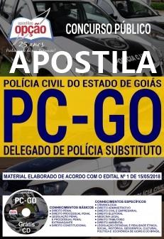 Apostila concurso Delegado da Polícia Civil GO - grátis CD e vídeo-aulas.