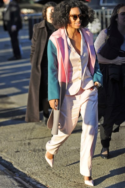 Solange Knowles, stepping out in an array of pastel pieces