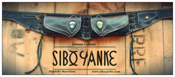 LeatherUtilityBelt+Festivalbelt+Riñonera+Cuero+Gemstone+Labradorite+Fashion accessories