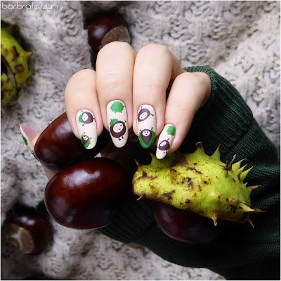 kasztany na paznokciach