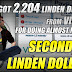 Second Life Linden Dollars - Got 2,204 Linden Dollars From VirWoX