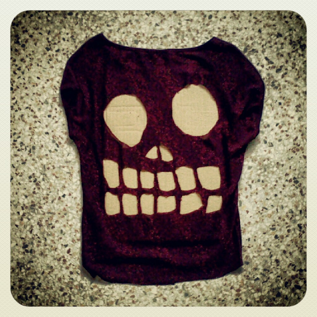 Confetti Monster Schemes Skull Cut Out Top Diy