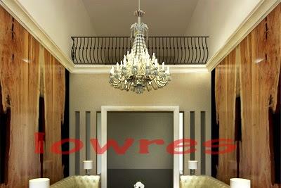 Preview desain interior ruang tamu luxury paket premium