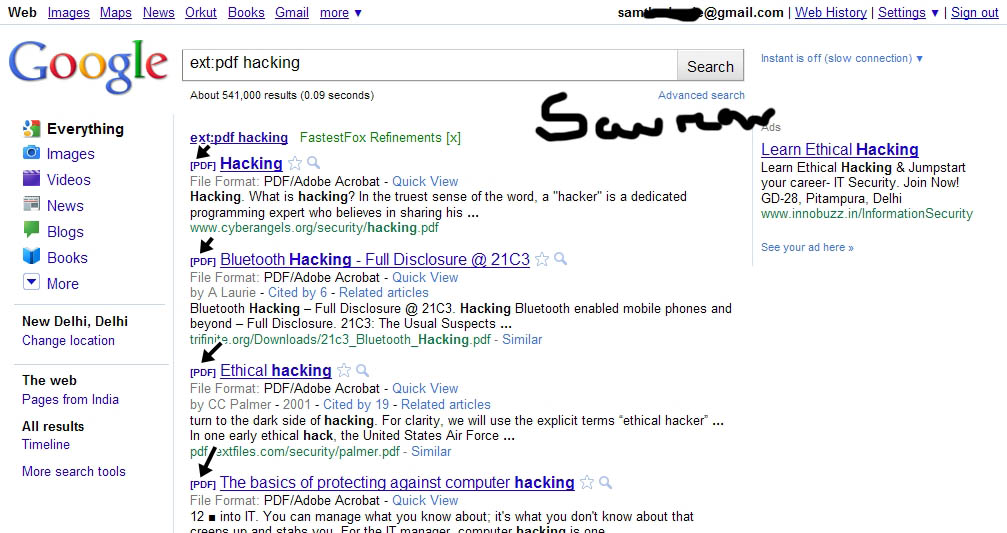 Using Google - The hackers way ~ Hacking - Class