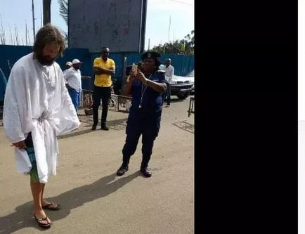 SERIOUSLY? 'Jesus Christ' disappears while walking on the streets of Lagos