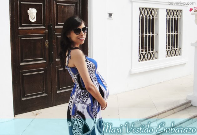b7d91082c Mis Looks  Embarazo - Maxi Vestido - Beverly