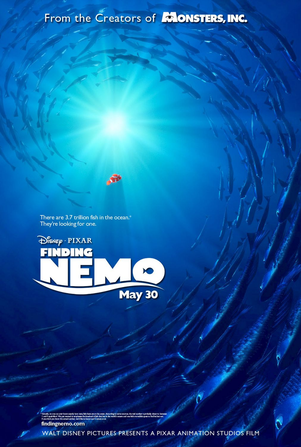 The Geeky Nerfherder Movie Poster Art Finding Nemo 2003