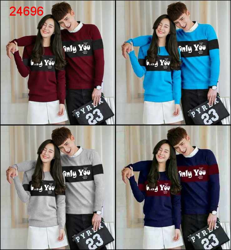 Jual Sweater Couple Sweater Only You - 24696