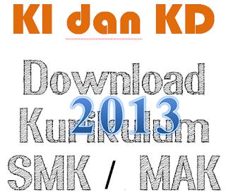 KI dan KD SMK Kurikulum 2013 Revisi 2016