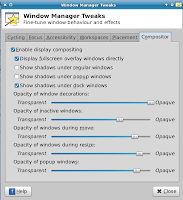 compositor for transparency in window manager tweaks tool linux mint xfce