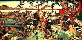 Tomoe Gozen, comandante del ejército de Minamoto no Yoshinaka.