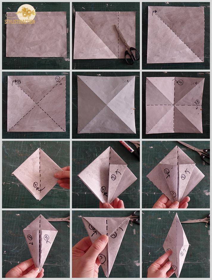 DIY grullas y borlas - paso a paso parte 1