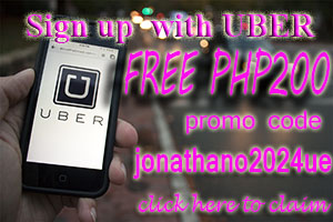 Use Uber Promo code jonathano2024ue and get PHP200 off on your first ride.