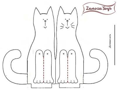Коты-неразлучники, выкройка
