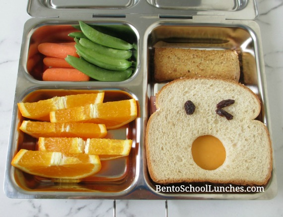 Funny face bento lunch