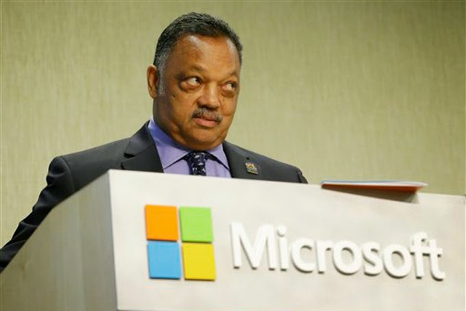 Jesse Jackson speaking at Microsoft event
