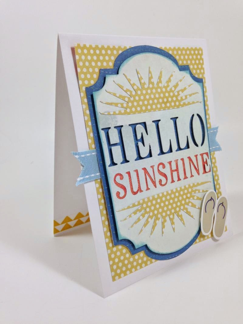 Close To My Heart Artfully Sent Hello Sunshine card sideview