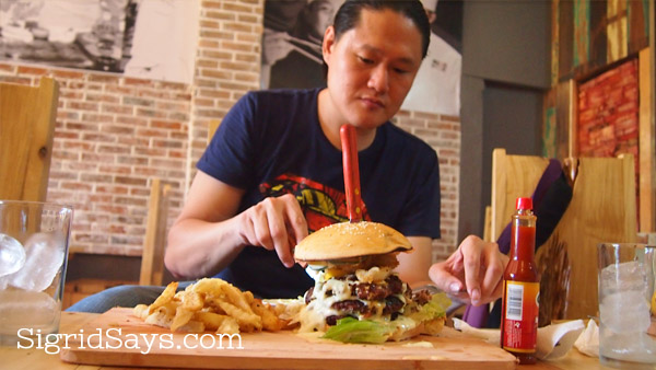 giant grilled burger