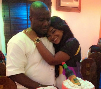 mercy aigbe packs out husband home