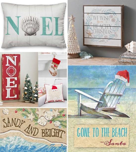 Beach Theme Christmas Decorations