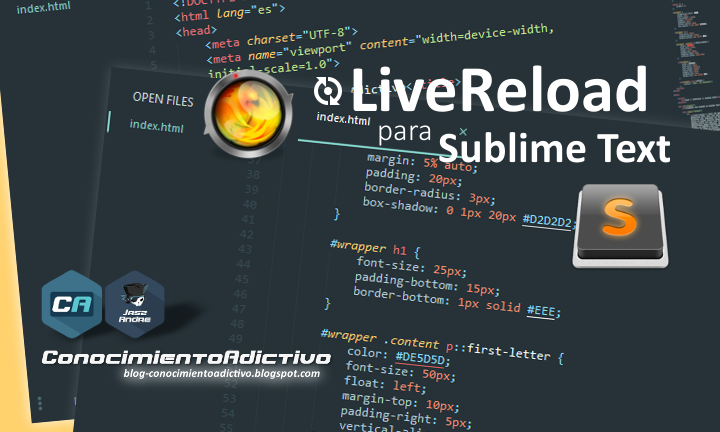 Instalar Live​Reload en Sublime Text 3